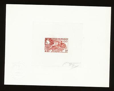 Malagasy - scott 429 - RARE VFMNH signed color proof - only about 20 exist