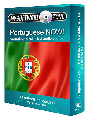Learn Portuguese Fast & Easy Portugal European Language Training Course Guide CD