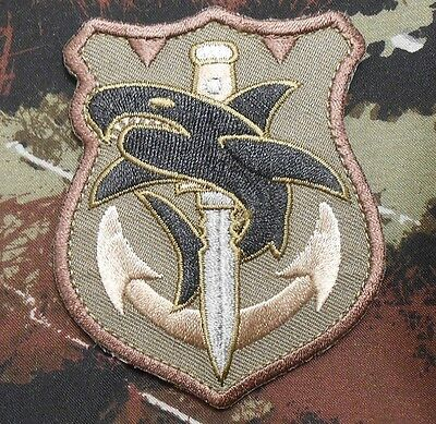 TAC SHARK TACTICAL US ARMY MORALE MILITARY COMBAT ISAF BADGE FOREST VELCRO PATCH