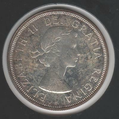 1964 BRILLIANT UNCIRCULATED Canadian SILVER Dollar #1