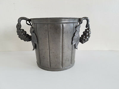 Art nouveau Champagne cooler Tin Handle as Grapes probably France um 1900