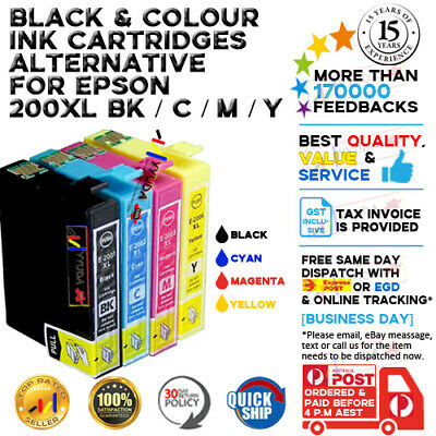 10 Epson Generic Ink 200XL T200XL for EPSON XP-400 200 300 WF2530 WF2540 Printer