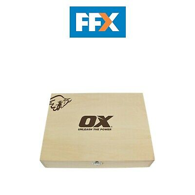 Ox Tools P370505 Pro Wood Chisel Set 5pc in Wooden Box