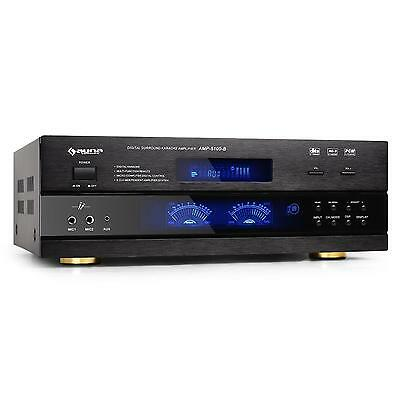 Amplificatore Home Cinema Hi-Fi Surround 5.1 1200W Ricevitore Radio Karaoke