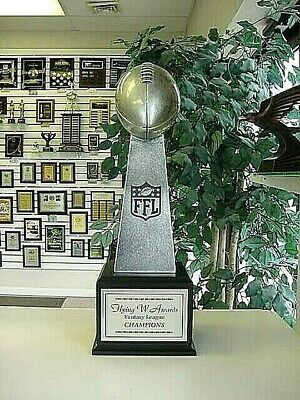 Large Lombardi 16 Yr Fantasy Football Perpetual Trophy Logo Engraved And Painted