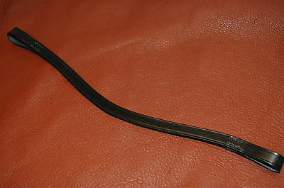 "Plain, English Leather Wave Shape Browband 1/2"" for covering or decorating"