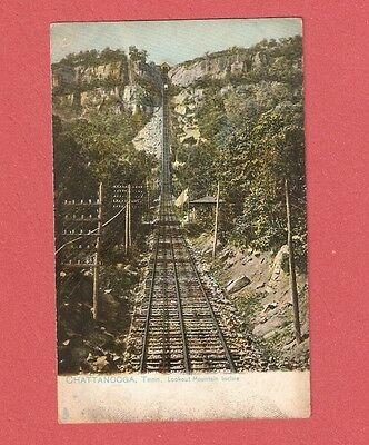 EARLY 1900s LOOKOUT MOUNTAIN INCLINE CHATTANOOGA TN COLOR POSTCARD