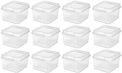 Sterilite Plastic FlipTop Latching Storage Box, Clear (12 Pack) 18038612