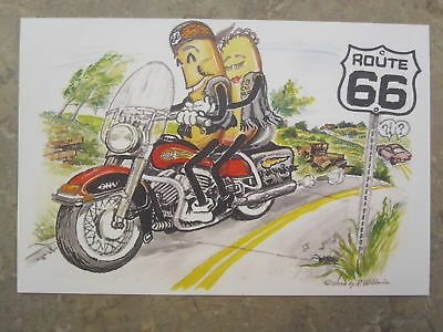 COZY DOG Harley by the Late Bob Waldmire Route 66 Post Card Quik s&h!