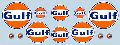 Gulf logo 12 piece sticker set - Official licensed Gulf decals