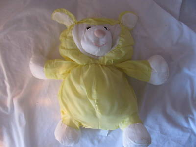 "15"" Fisher Price Puffalump Yellow Lamb Sheep Plush 1986 Stuffed Animal Soft toy"