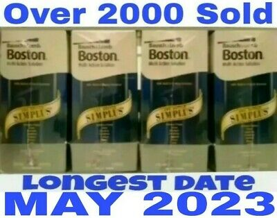 4 x 120ML Bausch & Lomb Boston Simplus Long Exp MAY / 2020 Contact Lens Solution