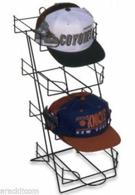 For Sale Four Pocket Sport Cap & Cap Product Counter Display Rack (Black)
