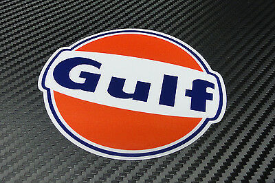 "Gulf logo laminated sticker 100 mm 4"" wide - Officially licensed quality decal"