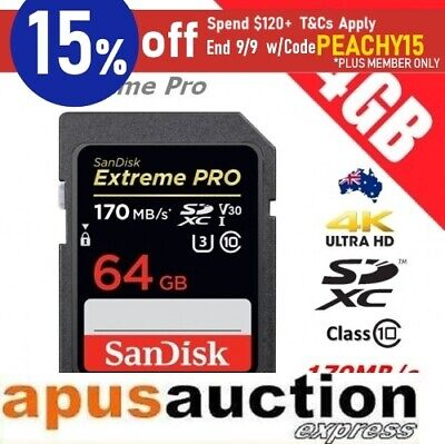SANDISK Extreme PRO 64GB SD SDXC Memory Card Class 10 UHS-I 95MB/s UHD Video 3D