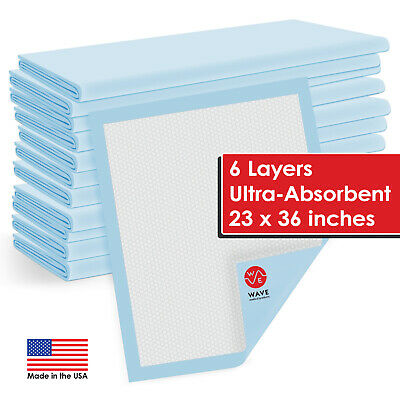 150 Thick Pads Adult Urinary Incontinence Disposable Bed pee Underpads 23x36""