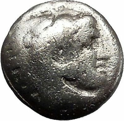 Alexander III the Great as Hercules Ancient Silver Greek Coin 325BC Zeus i41860