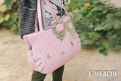 new HelloKitty Pink/White/Black leather tote purse Diaper shoulder bag handbag