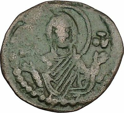 JESUS CHRIST Class G Anonymous 1068AD VIRGIN ORANS Byzantine Follis Coin i41852