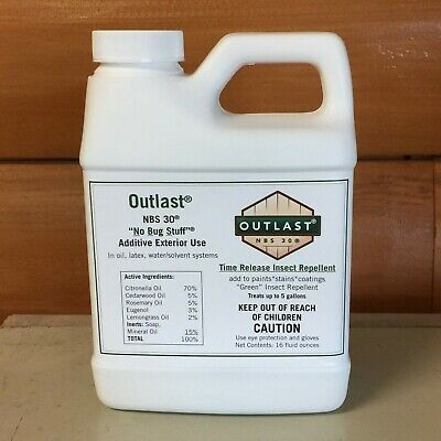Outlast NBS 30 Stain Additive Safe Green Insect Repellent Spray Treats 5 Gallons