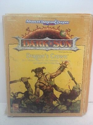 Advanced Dungeons & Dragons Dark Sun Dragon's Crown Road Fire TSR 2416 D&D