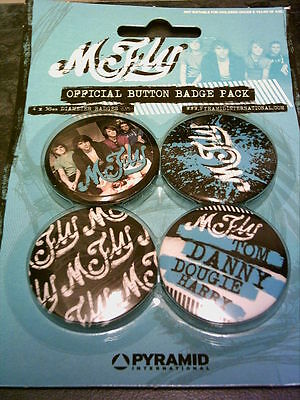 McFly - Pack of 4 x 38mm Button Badges