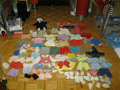 HUGE CABBAGE PATCH KIDS Clothing & Accessories Lot w. over 63 pieces
