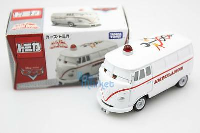 Tomica Takara Tomy Disney CARS 2 Fillmore Ambulance Rescue Diecast Aircraft Toy