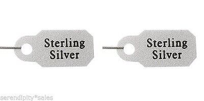 100 Metallic Plastic JEWELRY Price TAGS  Marked STERLING SILVER  Label w/ String