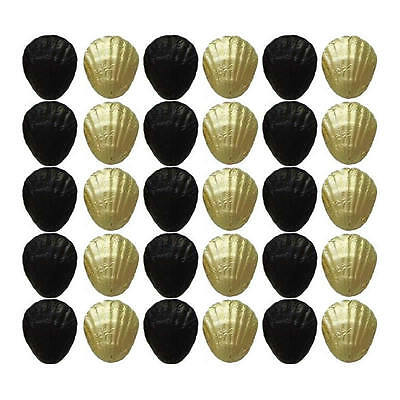 100 Black And Gold Chocolate Shells - Wedding Birthday Parties Candy Buffet