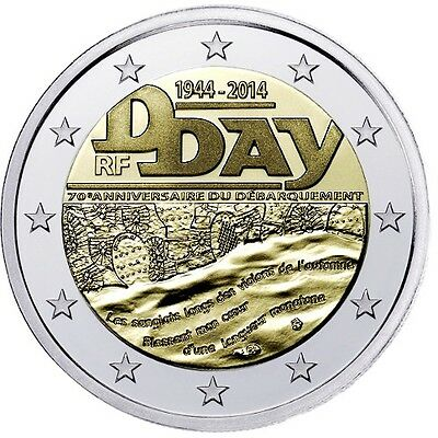 Francia  2€ 2014 D-Day FDC