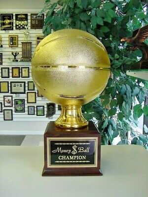 Fantasy Large Gold Resin Basketball 16 Year Perpetual Trophy Awesome!