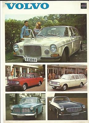 Volvo Range (Inc. 1800 S Coupe) Sales 'brochure'/sheet 1969