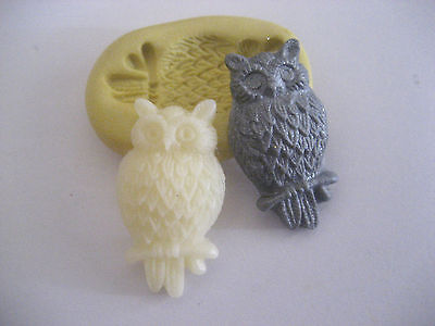Perched owl 26mm flexible silicone mold for fondant chocolate clay etc