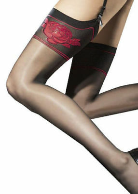 Fiore Obsession Etheris Sheer Garter Stockings  Nylons Hosiery FREE SHIPPING