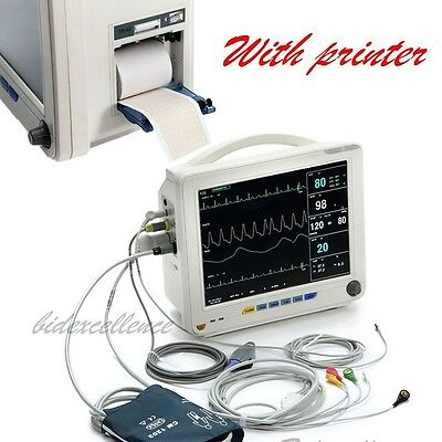 "2 years warranty, 12"" ICU CCU Multiparameter Patient Monitor with Printer Sale"