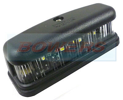 Wipac Land Rover Defender Classic Mini Led Black Rear Number Plate Lamp Light