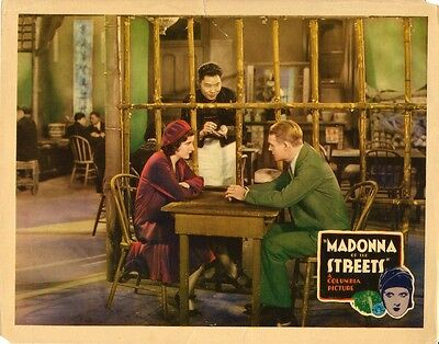 MADONNA OF THE STREETS (1930) Vint orig lobby card RICHLY-COLORED Pre-Code drama