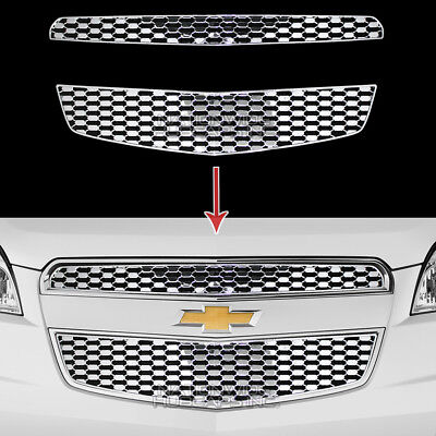 2012-2015 Chevy Equinox CHROME Snap On Grille Overlay Front Grill Inserts Covers