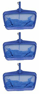 3) Swimline Hydro Tools 8040 Professional Heavy Duty Deep Bag Leaf Rake Pool Net