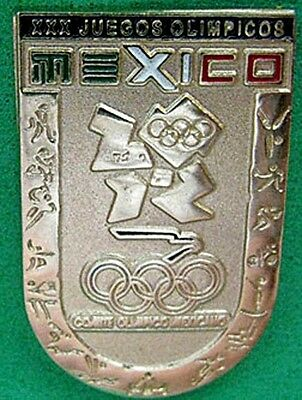 LONDON 2012 Olympic MEXICO NOC Internal team - delegation sports pictograms pin