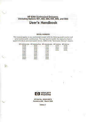 HP/Agilent 83600 Series Synthesized Sweepers Users Handbook Loc 673