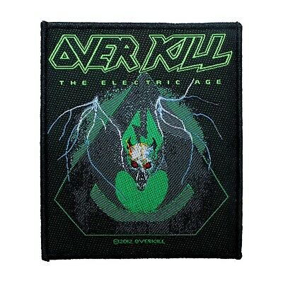"""Overkill: The Electric Age"" Band Art Thrash Metal Music Sew On Applique Patch"
