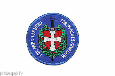 patch danish army denmark military for peace in freedom