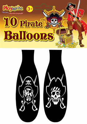 10 Pirate Balloons - Latex Kids Party/Loot Fun Toys Bag