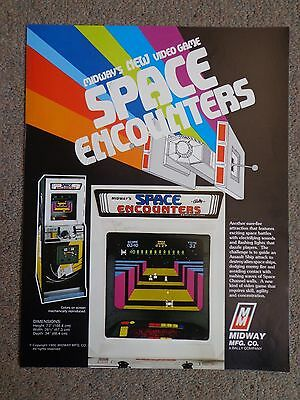 Bally Midway Space Encounters Arcade Game Advertising Flyer