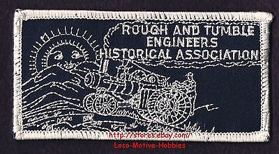 LMH PATCH Badge  ROUGH TUMBLE ENGINEERS Historical Assn. Steam TRACTOR Farm Eqpt