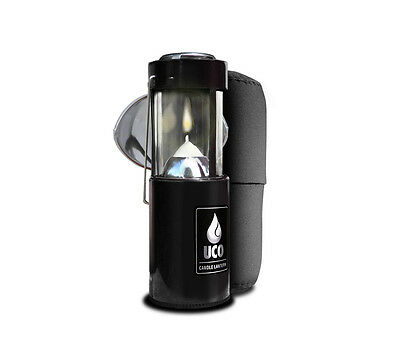Uco Original Candle Lantern Kit Black with Cocoon Case and Reflector