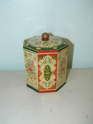 Vintage Decorative Tin Cookie Candy Floral Made in Western Germany West 11553