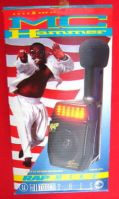 MC M.C. Hammer 1991 Rap Microphone MIB never opened!!!!